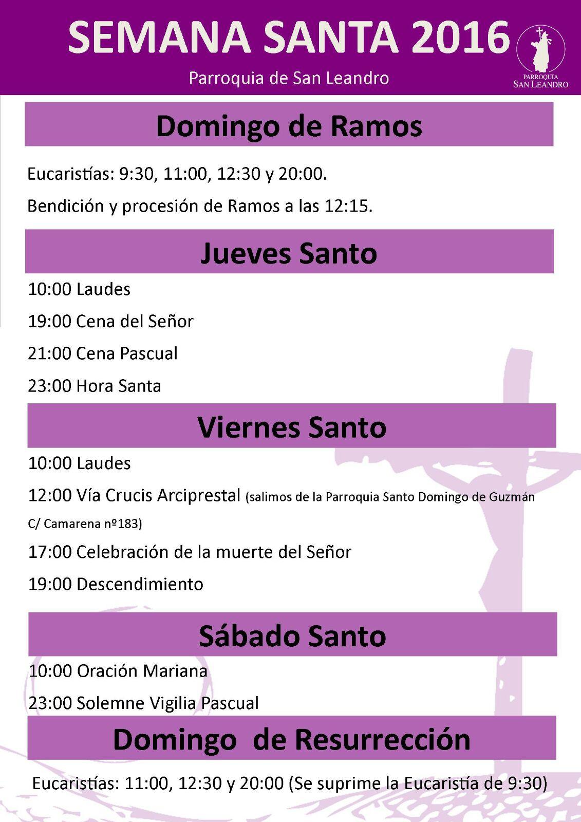horario_semana_santa_2016
